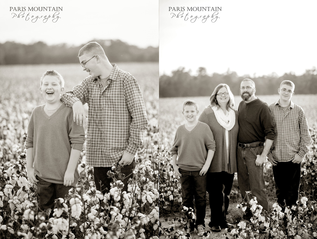 Family Cotton Field Photos 2