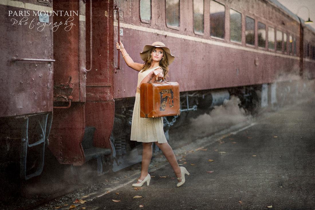 Train Station Senior Portraits 1