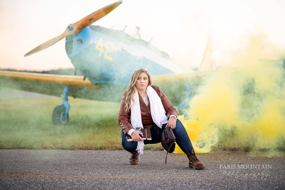 Cartersville Senior Portrait Photographer Airplane Fall-38