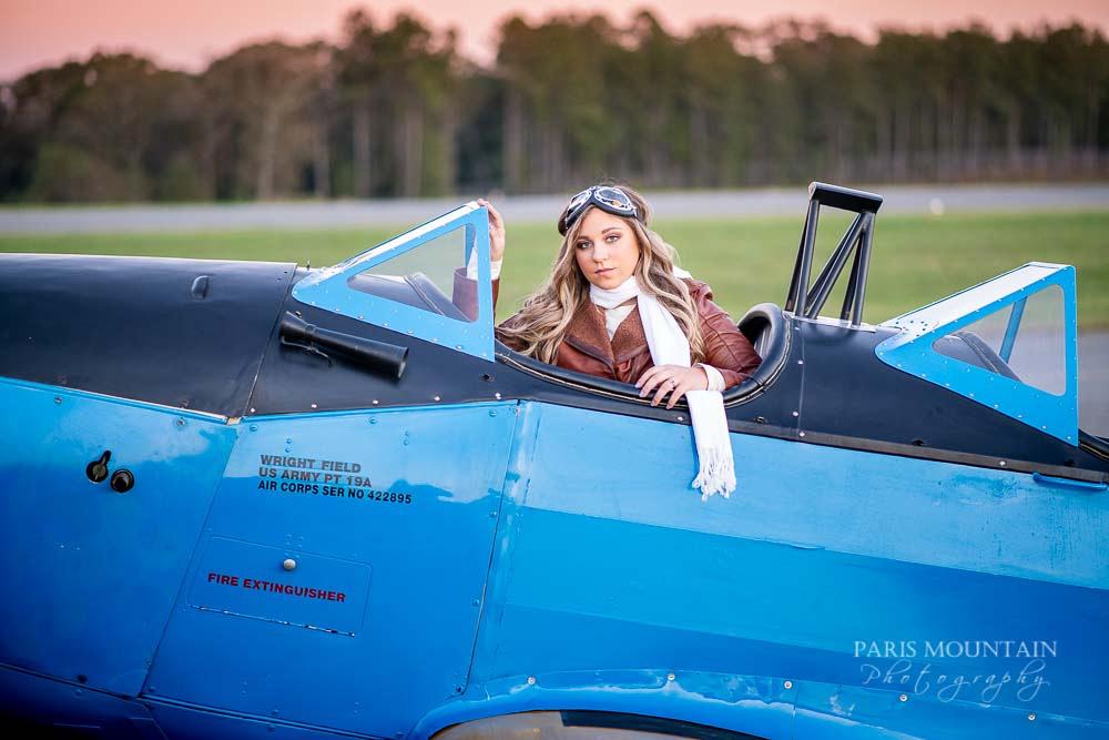 Cartersville Senior Portrait Photographer Airplane Fall-41