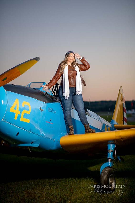 Cartersville Senior Portrait Photographer Airplane Fall-42