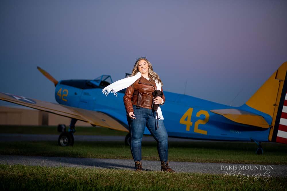 Cartersville Senior Portrait Photographer Airplane Fall-43