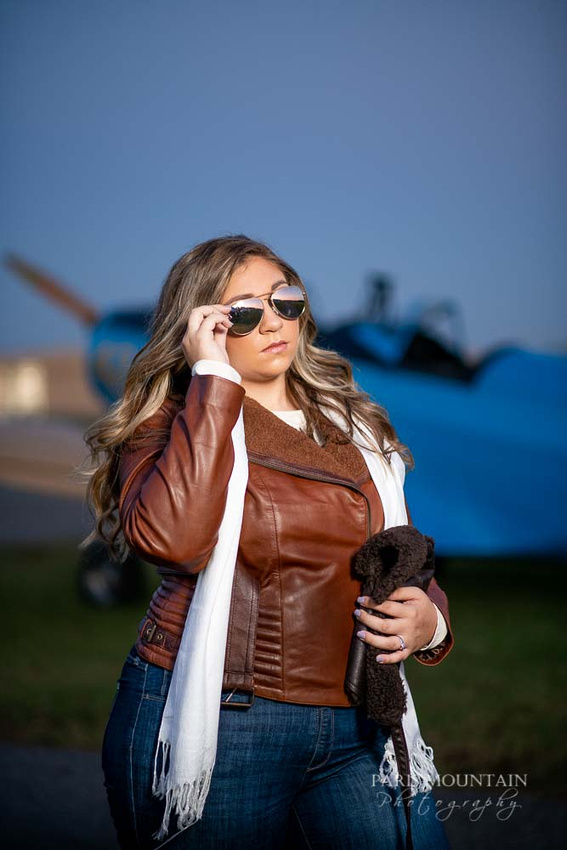 Cartersville Senior Portrait Photographer Airplane Fall-44