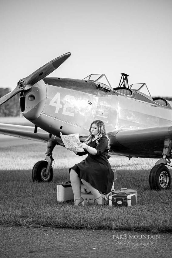 Cartersville Senior Portrait Photographer Airplane Fall-27