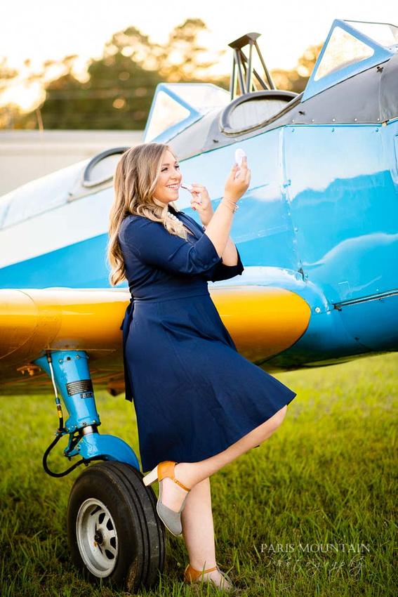 Cartersville Senior Portrait Photographer Airplane Fall-29