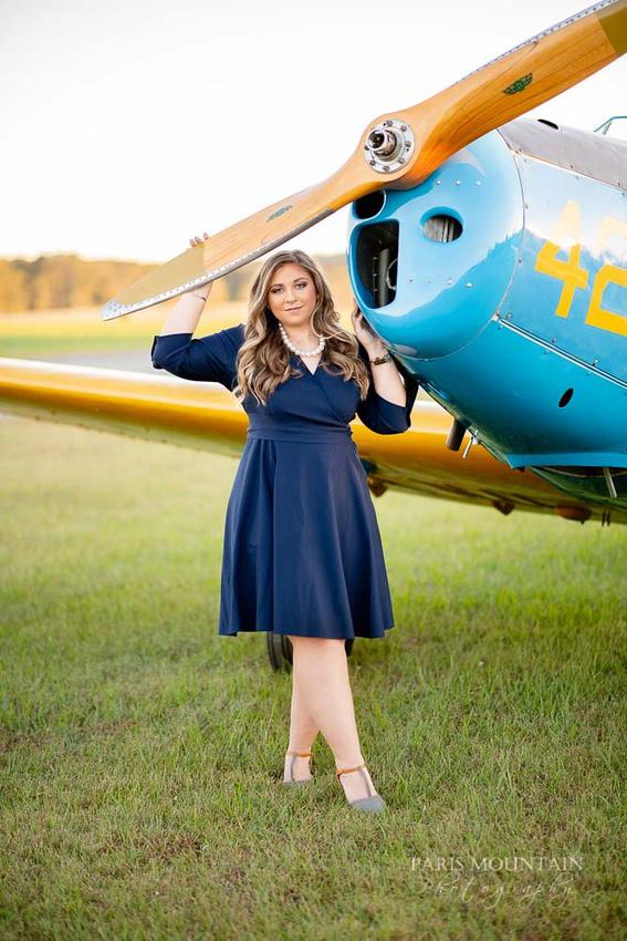 Cartersville Senior Portrait Photographer Airplane Fall-33